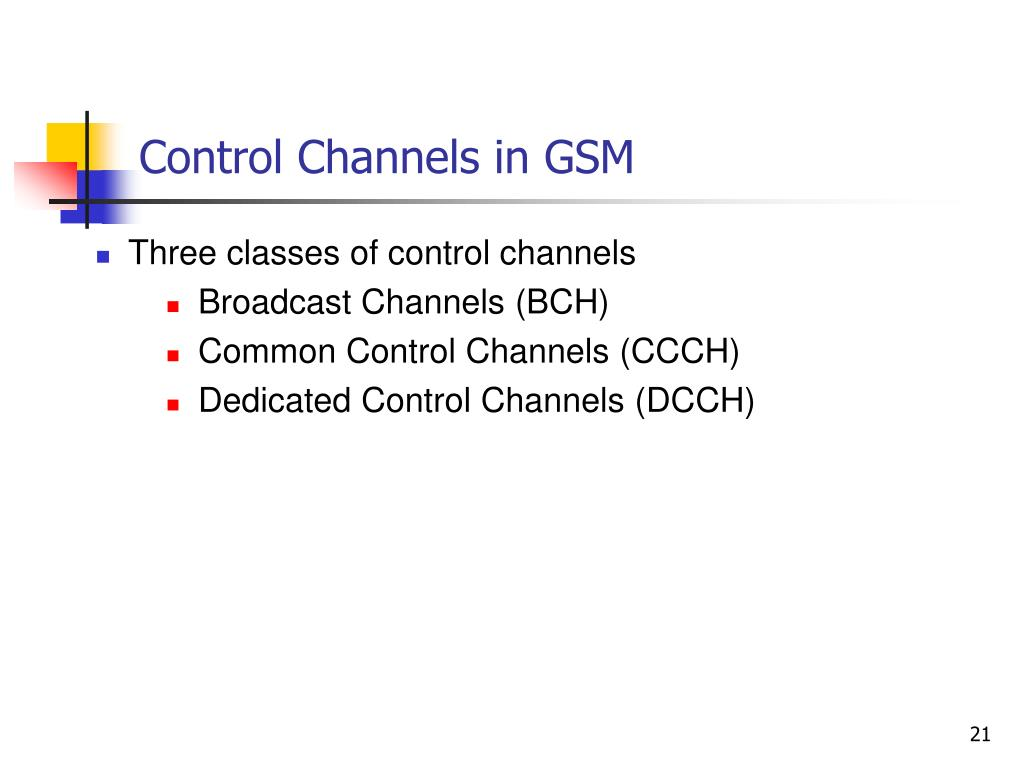 Control Channels in GSM