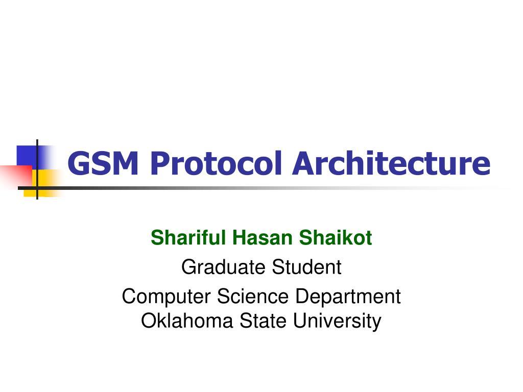 gsm protocol architecture l.