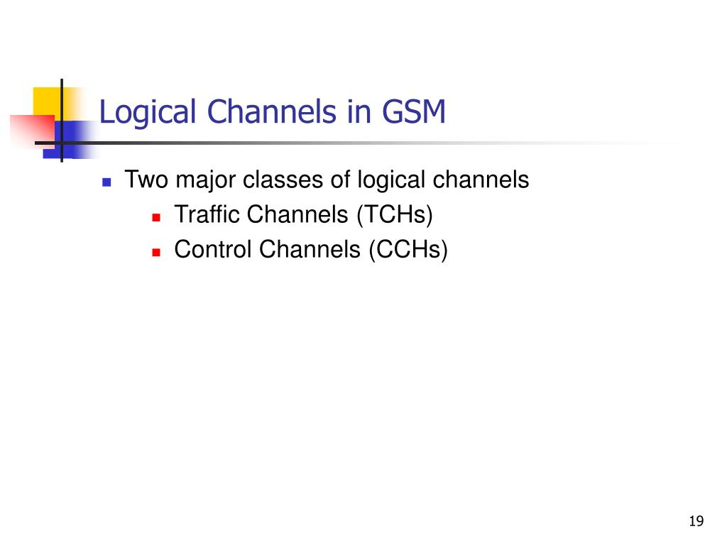 Logical Channels in GSM