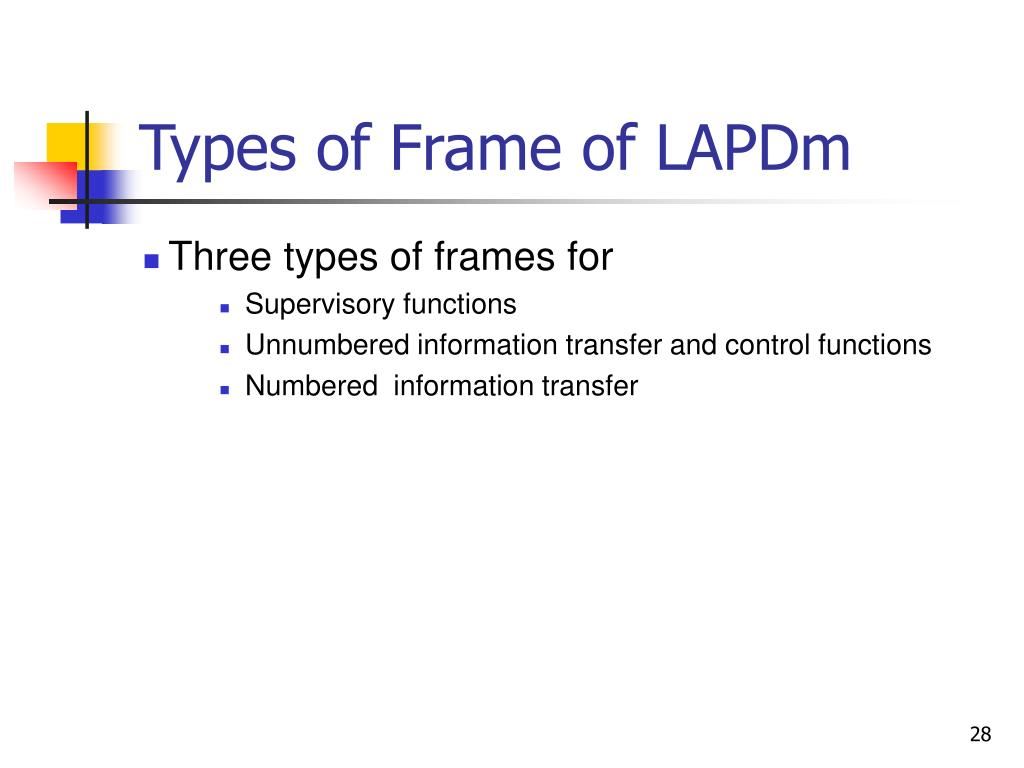 Types of Frame of LAPDm