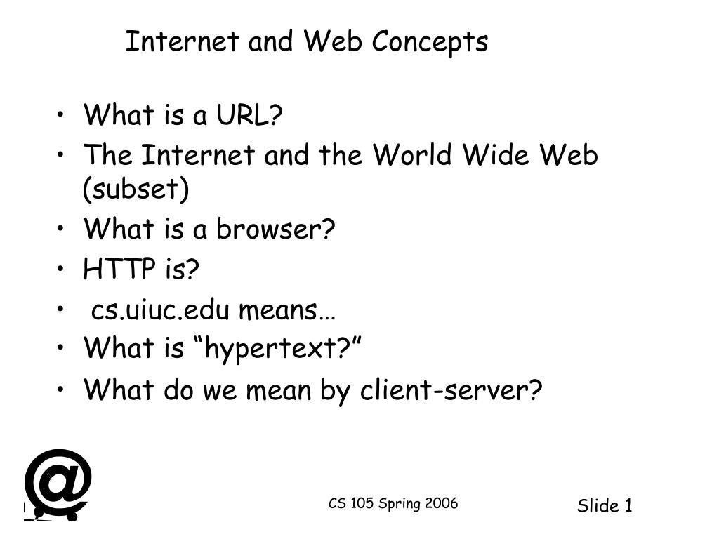 internet and web concepts l.