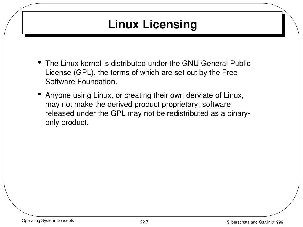 Linux Licensing