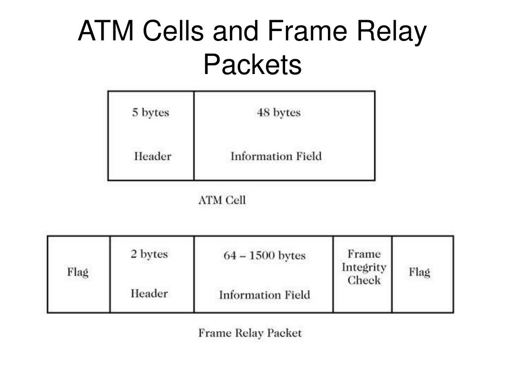 ATM Cells and Frame Relay Packets