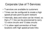 corporate use of t services