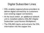 digital subscriber lines
