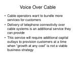 voice over cable
