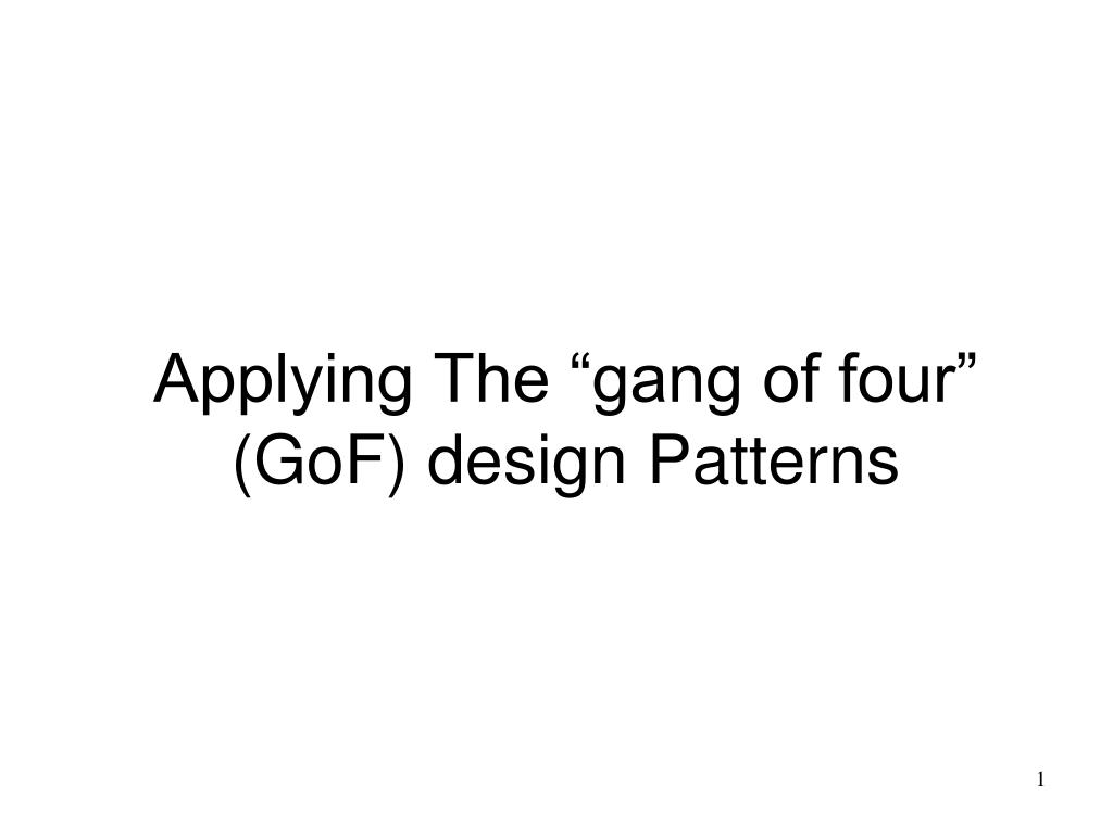 Gang Of Four Patterns Simple Design