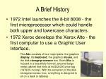 a brief history11