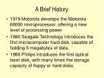 a brief history18