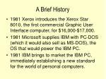 a brief history20