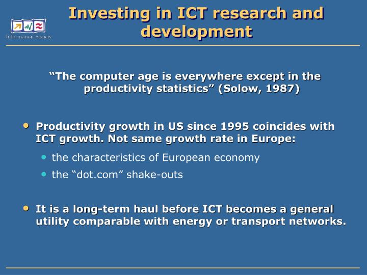 Investing in ict research and development