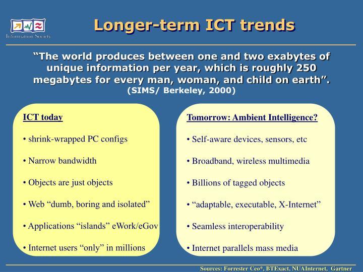 Longer term ict trends