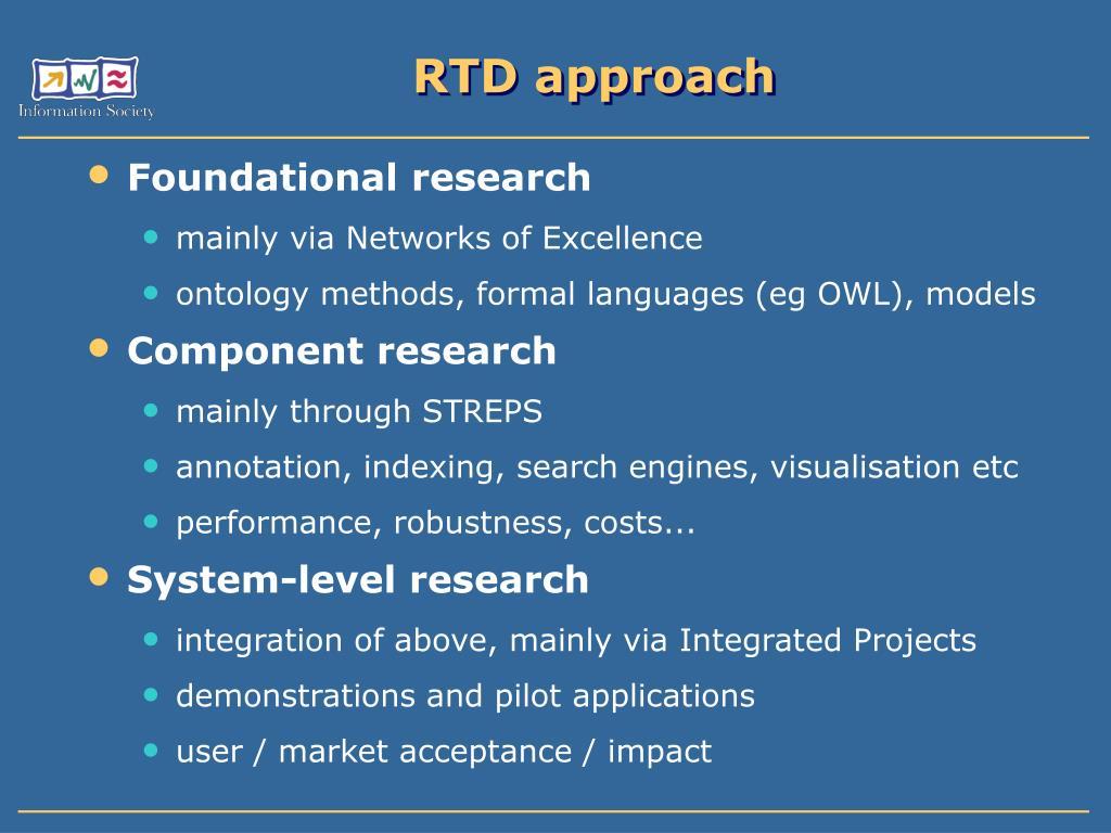 RTD approach