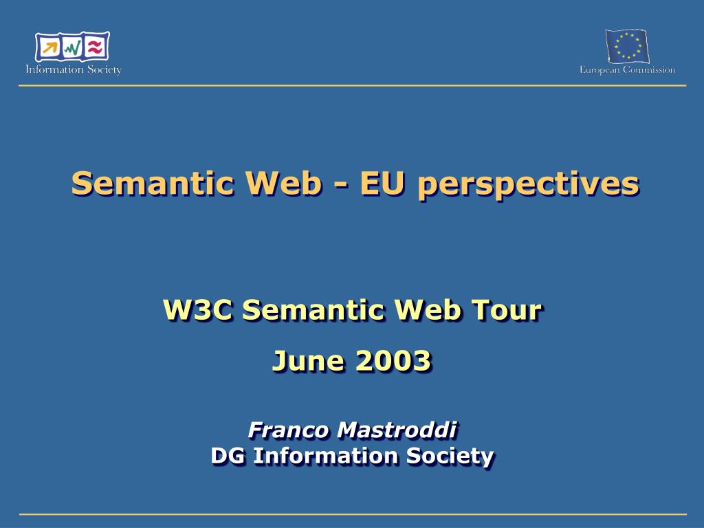 semantic web eu perspectives l.