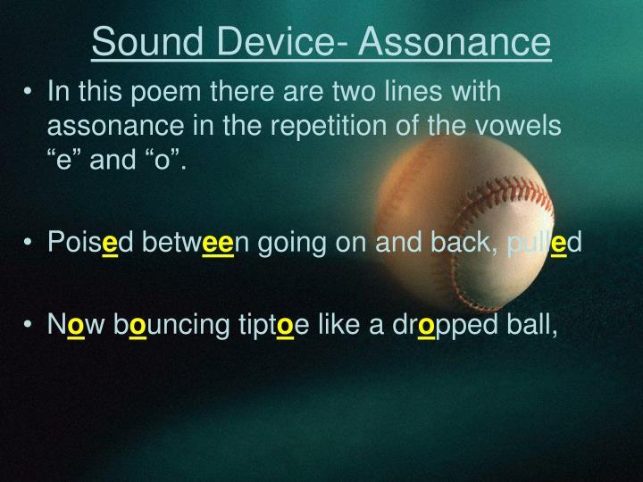 Sound Device- Assonance