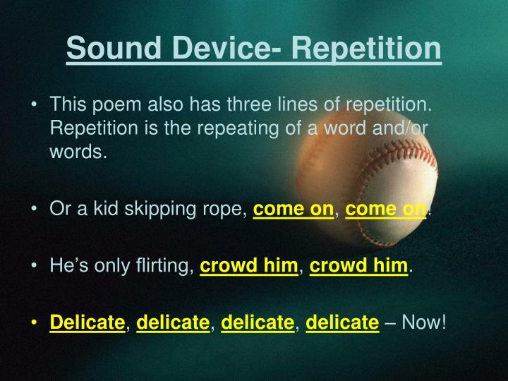Sound Device- Repetition