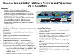 biological communication molecules networks and populations and its applications