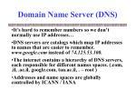 domain name server dns