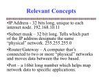 relevant concepts12