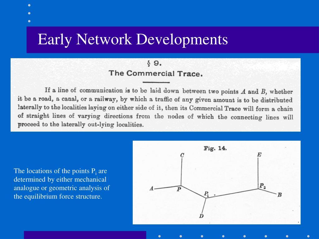 Early Network Developments