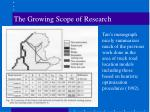 the growing scope of research21