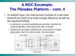 a noc excample the pleiades platform cont 4