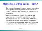 network on a chip basics cont 1