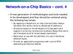 network on a chip basics cont 4
