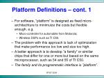 platform definitions cont 1