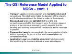 the osi reference model applied to nocs cont 1
