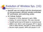 evolution of wireless sys 1g