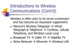 introductions to wireless communications cont d