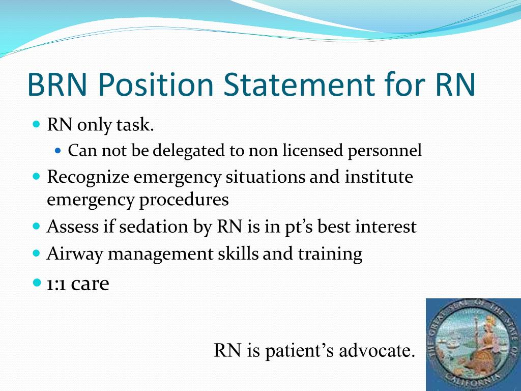 BRN Position Statement for RN