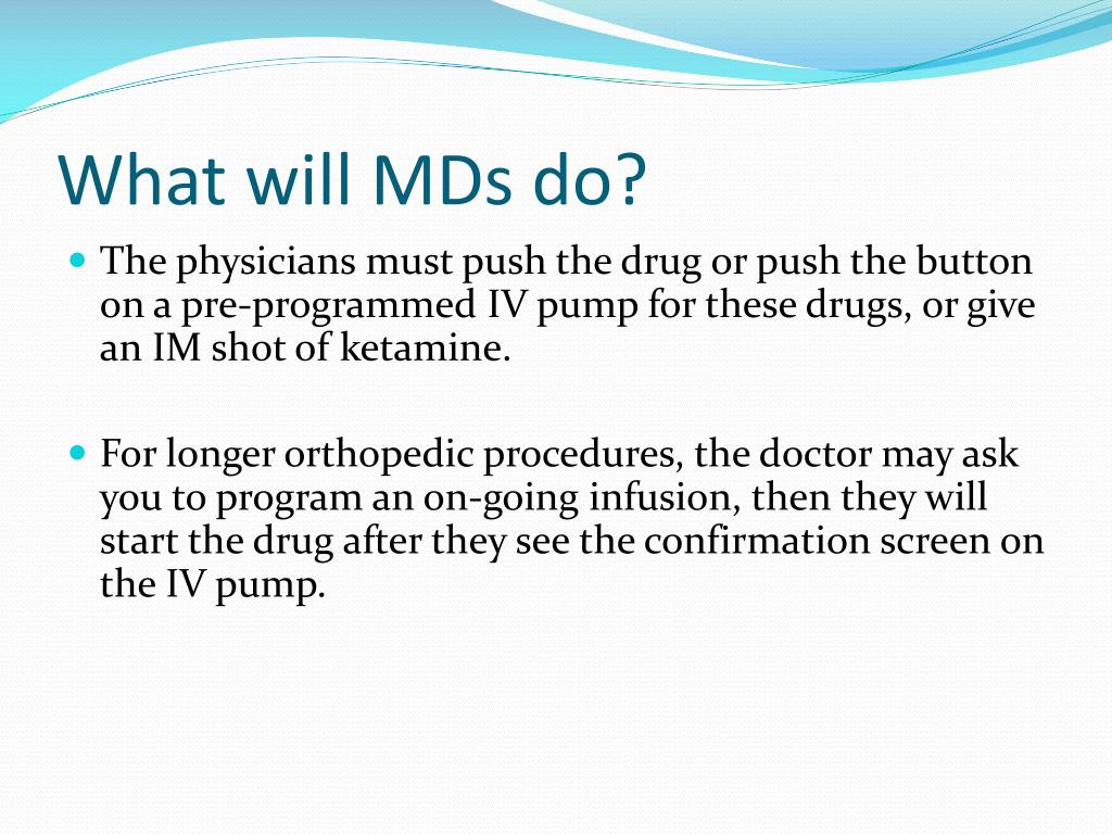 What will MDs do?