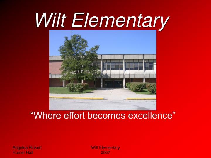 wilt elementary n.