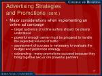 advertising strategies and promotions cont17