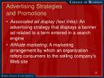 advertising strategies and promotions