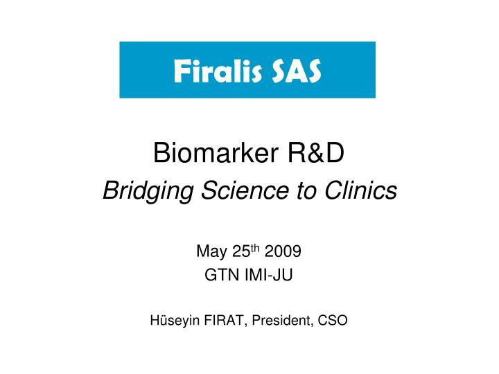 Biomarker R&D