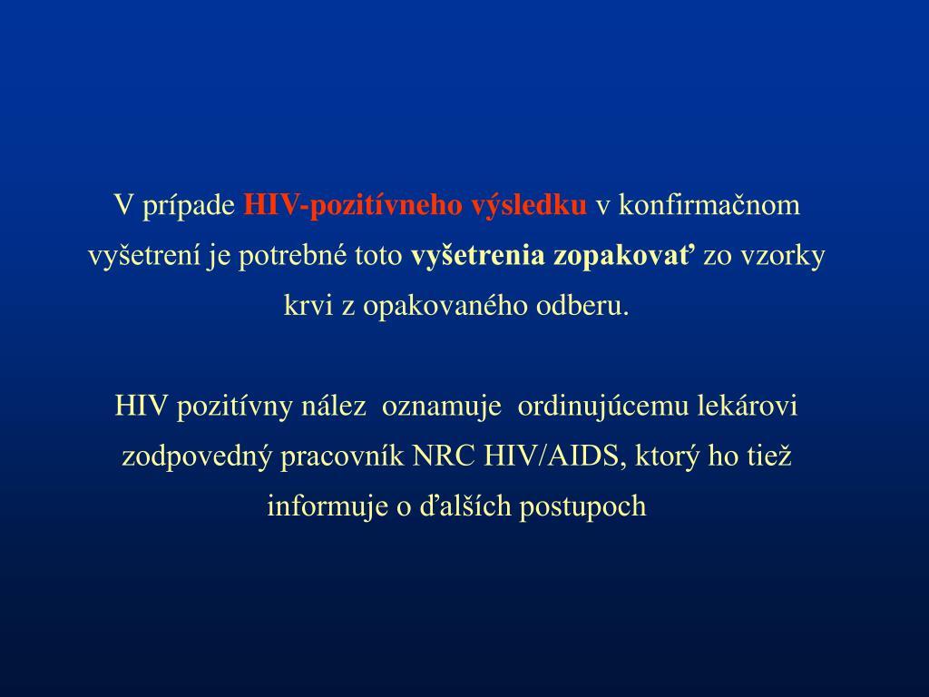 riziká datovania niekto HIV pozitívny