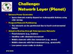 challenges network layer planet