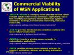 commercial viability of wsn applications80