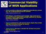 commercial viability of wsn applications84