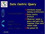 data centric query