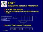 esrt congestion detection mechanism