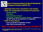 space communications protocol standards transport protocol scps tp