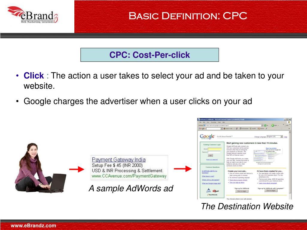 A sample AdWords ad
