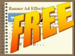 banner ad effectiveness