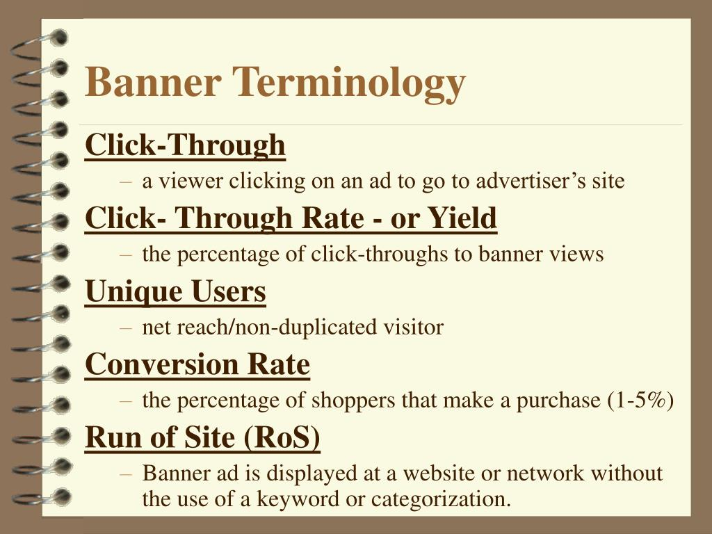 Banner Terminology