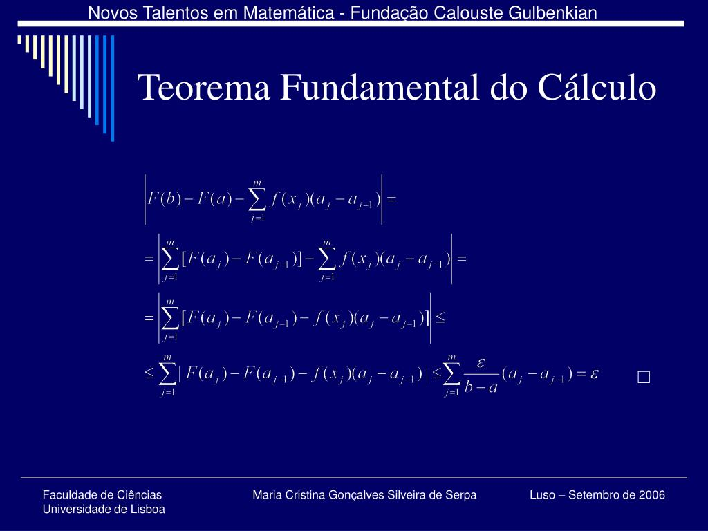 Teorema Fundamental do Cálculo