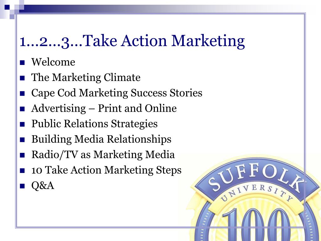 1…2…3…Take Action Marketing